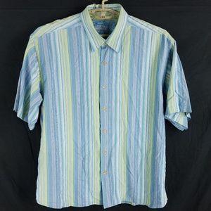 Tommy Bahama Silk Striped Hawaiian Shirt